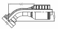 HF1P-WS 4SH-R13 - SAE 62 6K FL 45