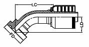 SAE FLANGE CODE 62 6000 PSI - 45°