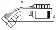 SUPERCAT FLANGE - 45°